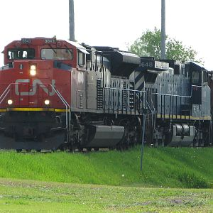 CN 8843 east downtown brandon