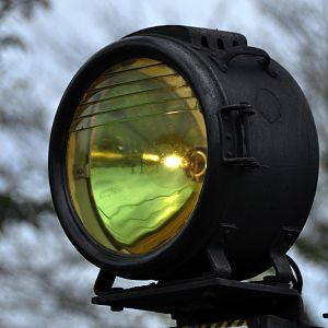 Headlight of a steam locomotive, C1266