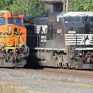BNSF 6111 and NS 8409 Elkhart, IN