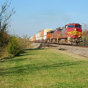 BNSF westbound Z-train re-route