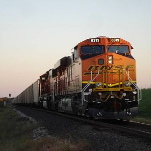 BNSF 6313 At Kirvin, Texas