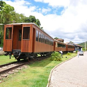 Steam train at Rio Acima