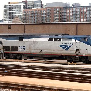 Amtrak Engine in Chicago
