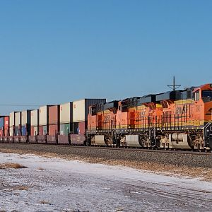 BNSF 7240 EB AT HEREFORD, TX