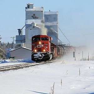 CP Rail #8858 A Cold Winters Day