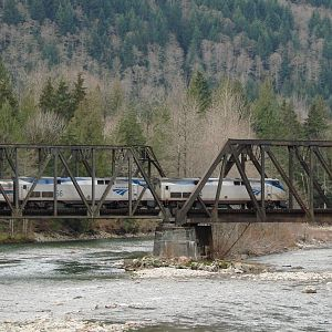 Crossing the South Fork,Skykomish River