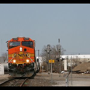 BNSF train in Beautiful Beamont, TX