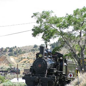 Backing out of Virginia City