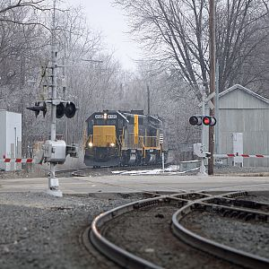 Grand Elk 4125 heads for the yard in Elkhart