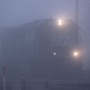 A little fog to start our day of railfaning