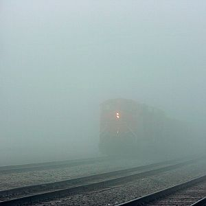 BNSF setting in Fog
