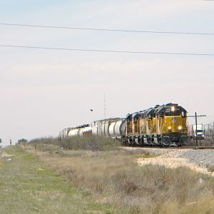 East bound local into Odessa, Tx