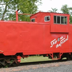 Frisco Caboose at Baxter Springs Museum
