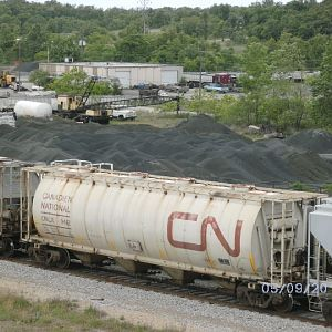 CN car at Galena, KS