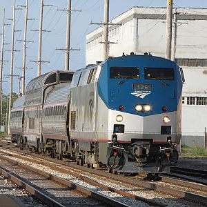 Amtrak special R1A takes the main in Dowagiac