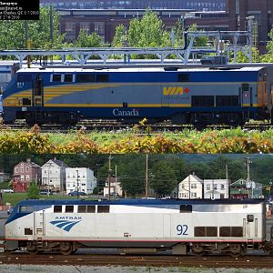 VIA vs. AMTRAK P42s