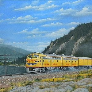 Union Pacific In The Columbia River Gorge