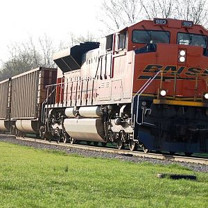 BNSF CN coal empties returning from ADM Decatur Il