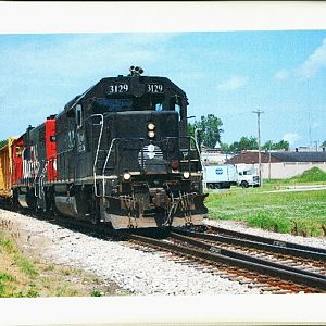 IC GP40 leading the Peoria local to Decatur Il