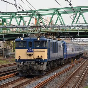 JR-East model Ef64 at Warabi