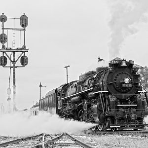 NKP 765 Blowing Off Steam