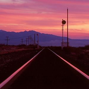 Lonely desert rails