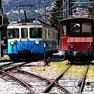 M O B Train Arriving Gstaad Switzerland