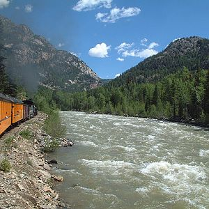Durango & Silverton RR - Along the Animas