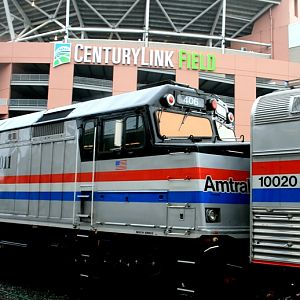 Amtrak 40th Anniversary Train in Seattle