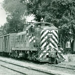 Santa Fe freight train at Pekin Illinois