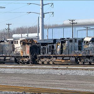 CSX Locomotives from Valparaiso Wreck