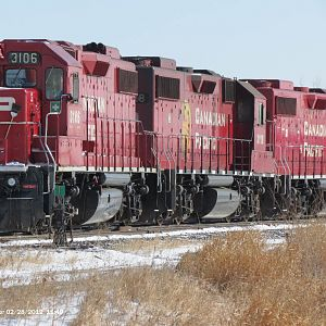 CP Rail GP38-2 Brandon, MB.