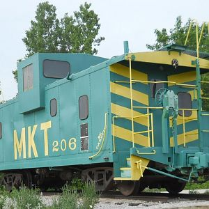View of MKT 206 Caboose