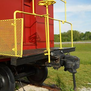 Coupling detail, Frisco Caboose 1150