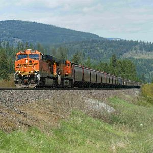 ClimbingThe Westbound Grade At Naples Idaho