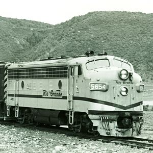 Denver and Rio grande  Ouray Colo.  August 8 1967