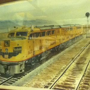An union pacific fright train photo