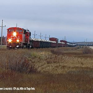 CN on Prairie North Line
