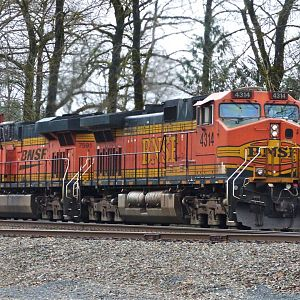 Eastbound Stack Train at Goldbar, WA
