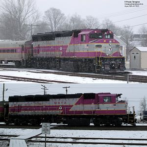 MBTA 1116 GP40MC