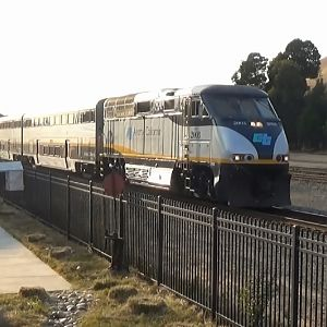 Amtrak Capitol Corridor Train At Niles