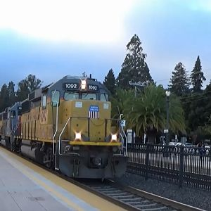Union Pacific Broadway Local At Burlingame