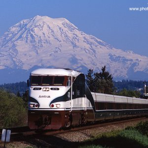 Amtrak Cascades #509 at Puyallup, Washington