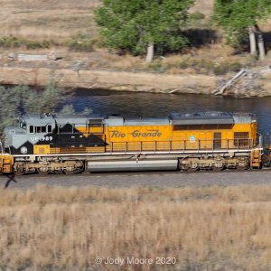 Union Pacific 1989 on the Rock and Rail Parkdale to Colorado Springs rock train