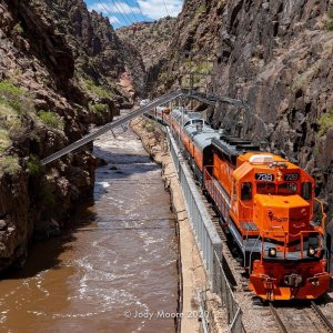 Royal Gorge Route Railroad in the Canyon