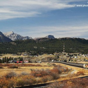 Canadian Pacific eastbound on Crowsnest Pass