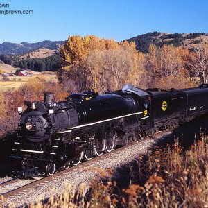 SP&S 700 is westbound near Bozeman, Montana