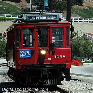 San Pedro Red Car Trolly