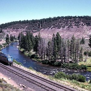 California Zephyr Along Truckee River