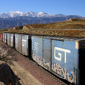 GT Boxcars on Cajon Pass